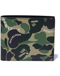 A Bathing Ape X Montblanc Wallet - Green
