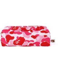 A Bathing Ape Abc Flight Pouch Pink