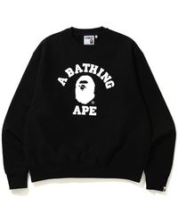 A Bathing Ape Relaxed Classic College Crewneck - Black