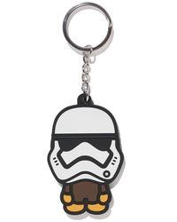 A Bathing Ape X Star Wars First Order Mask Keychain - White