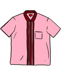 Supreme Bowling Zip S/s Shirt - Pink