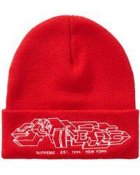 Supreme Delta Logo Beanie Red