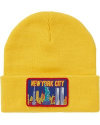 Supreme Ny Patch Beanie - Yellow
