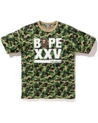 94df2d15 A Bathing Ape Abc Xxv Tee White/blue in Blue for Men - Lyst