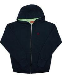 Supreme - Contrast Zip Up Hooded Sweatshirt - Lyst