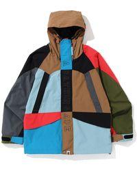 A Bathing Ape - Color Snowboard Jacket - Lyst
