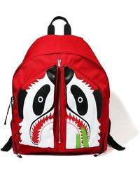 A Bathing Ape Panda Day Pack - Red