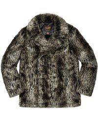 Supreme Schott Fur Peacoat - Multicolour