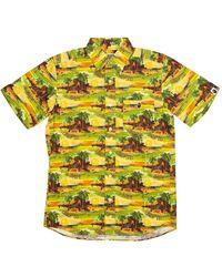 A Bathing Ape X Undefeated Island Woven Shirt - Green