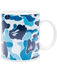 A Bathing Ape A Bathing Ape Abc Camo Mug - Blue