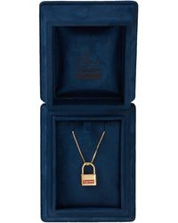 Supreme - Jacob & Co. 14k Lock Pendant - Lyst
