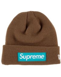 c52fbc4ca Supreme New Era Chenille Script Beanie in Black - Lyst