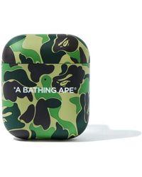 A Bathing Ape Abc Camo Airpods Case - Green
