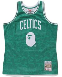 653a1ed1 A Bathing Ape X Mitchell & Ness Celtics Tee Green in Green for Men - Lyst