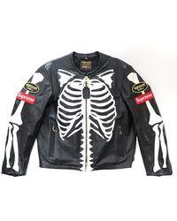 Supreme Vanson Leather Bones Jacket - Black