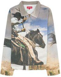 Supreme Cowboy Denim Work Jacket - ブルー