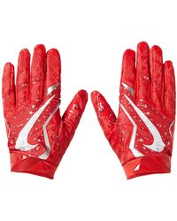 Supreme Nike Vapor Jet 4.0 Football Gloves - Red