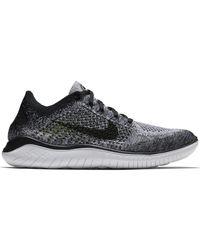 Nike Free Rn Flyknit 2018 Black White Ombre