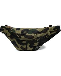 A Bathing Ape X Porter 1st Camo Waist Bag (ss18) - Green
