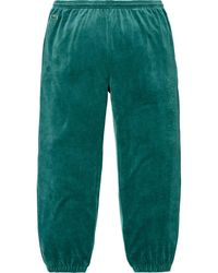 Supreme Lacoste Velour Track Pant - Green
