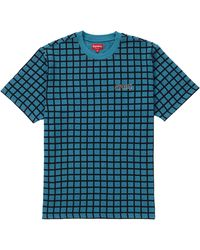 Supreme Grid Jacquard S/s Top - Blue
