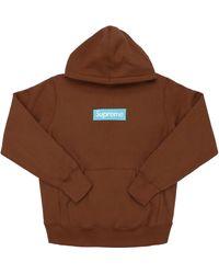 Supreme Box Logo Hooded Sweatshirt (fw17) - ブラウン