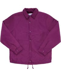 Supreme - Champion Label Coaches Jacket Purple - Lyst