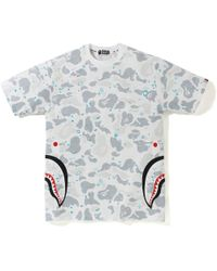 b719c6d2 A Bathing Ape Color Camo Side Shark Tee Red in Red for Men - Lyst