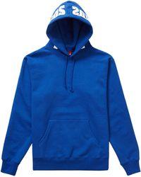 Supreme Mirrored Logo Hooded Sweatshirt (fw19) - ブルー