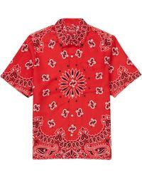 Supreme Bandana Silk S/s Shirt - Red