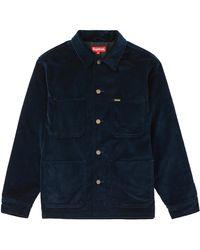 Supreme Velvet Chore Coat - Blue