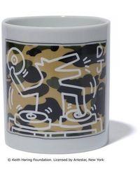 A Bathing Ape Keith Haring Mug - White