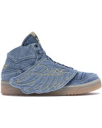 adidas Js Wings Jeremy Scott Denim - Blue