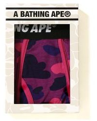 A Bathing Ape Color Camos Trunks - Purple