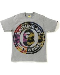 94bd0a58 A Bathing Ape Multi Camo Busy Works Tee White in White for Men - Lyst