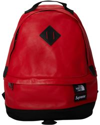 Supreme - The North Face Leather Day Pack Red - Lyst