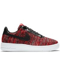 Nike Air Force 1 Flyknit 2.0 University Red Black - レッド