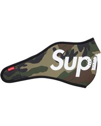 Supreme Logo Facemask - Green