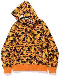 2780725a A Bathing Ape Tiger Full Zip Hoodie (ss19) Orange in Orange for Men - Lyst