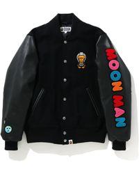 A Bathing Ape X Kid Cudi Varsity Jacket - ブラック