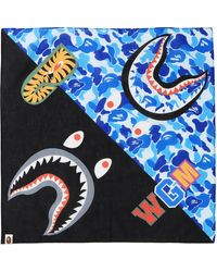 A Bathing Ape Abc Shark Bandana - Blue