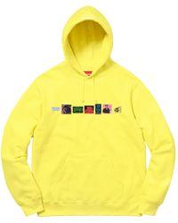 99ccf1c73dc6 Lyst - Supreme Embossed Logo Hooded Sweatshirt (ss18) Lemon in ...