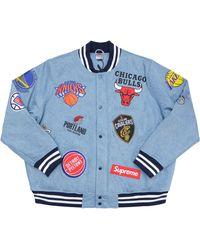 Supreme Nike/nba Teams Warm-up Jacket - ブルー