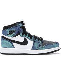 Nike 1 Retro High Tie Dye (ps) - Blue