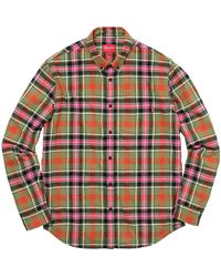 Supreme Tartan Flannel Shirt - Green