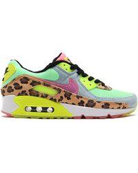"Nike Air Max 90 Lx ""denim Leopard Print"" スニーカー - グリーン"