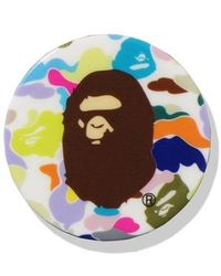 A Bathing Ape Multi Camo Ape Head Popsocket - White