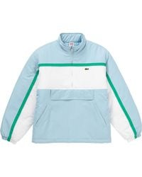 Supreme Lacoste Puffy Half Zip Pullover - Blue