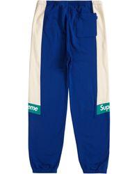Supreme Colour Blocked Sweatpant - Blue