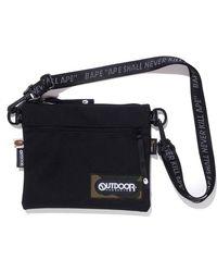 A Bathing Ape X Outdoors Products Mini Shoulder Bag - Black